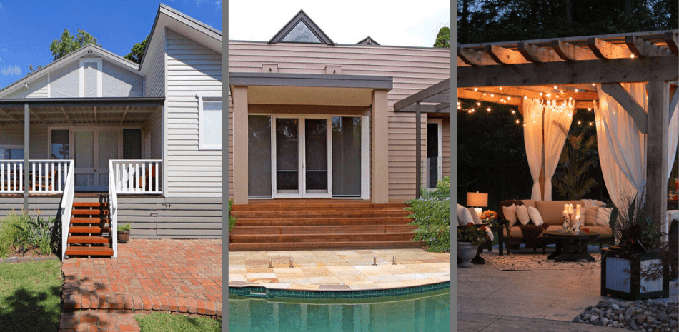 Pergola vs Verandah vs Patio – What's the difference?